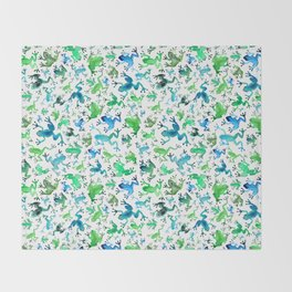 Tree Frogs Throw Blanket