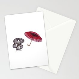 umbrella mushroom Stationery Cards