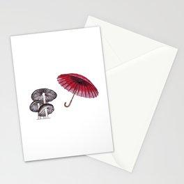 umbrella mushroom Stationery Cards
