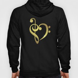Treble clef, bass clef music heart love Hoody
