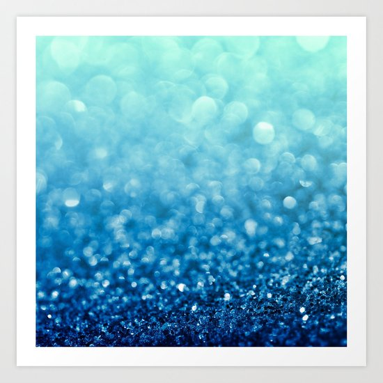 Tell Me True...Ocean Blue Art Print