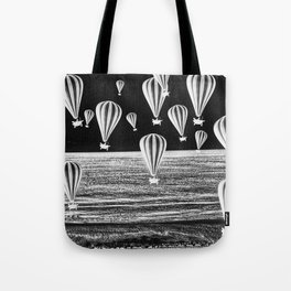 BETWEEN TWO WORLDS B/W Tote Bag