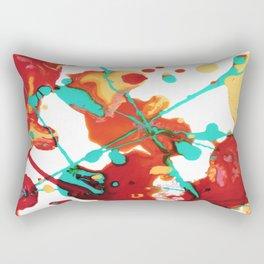 Paint Party 1 Abstract Rectangular Pillow