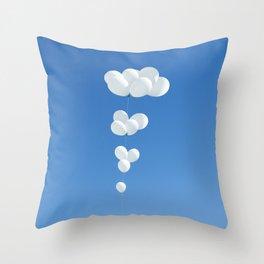 Saudade (White balloons) Throw Pillow