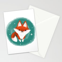 Fox in the wood Stationery Cards