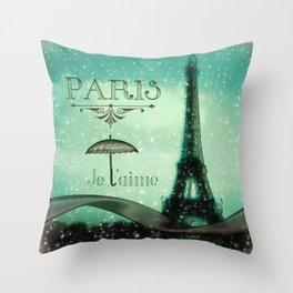 Paris... Je t'aime Throw Pillow