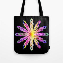 Solar Power Mandala (magenta-gold) Tote Bag