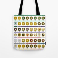 nba Tote Bags featuring NBA Championship Rings by Hoop Dream Ink