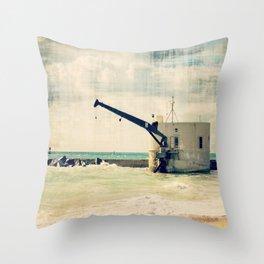 Singer Island Pump House Throw Pillow