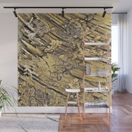 Baby Handprints in Gold and Black Wall Mural