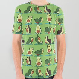 Avocado Yoga All Over Graphic Tee