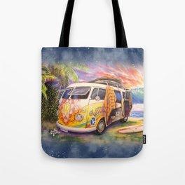 Hippie Surfer Life Tote Bag