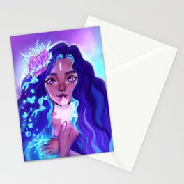 The lone girl Stationery Cards