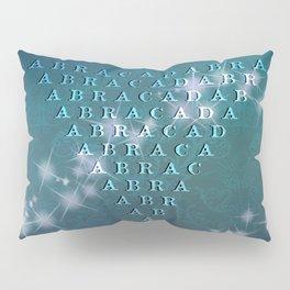 Abracadabra Reversed Pyramid in Turquoise Pillow Sham