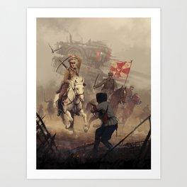 1920 - final charge Art Print