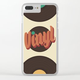 Vinyl Lover Clear iPhone Case