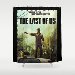The Last of Us Joel Action Figure Shower Curtain
