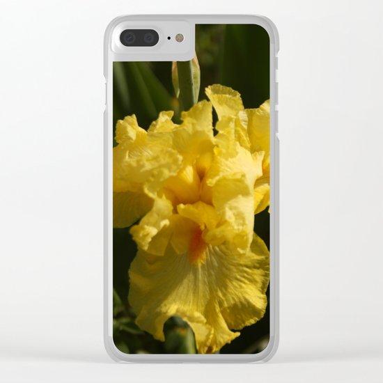 Iris - Yellow Clear iPhone Case