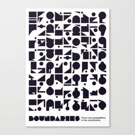 Boundaries Canvas Print