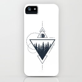 Modern Geometric Nature Forest Boho Triangles Graphic iPhone Case