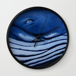 blue giant of the ocean Wall Clock