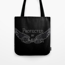 Protected by Castiel Black Wings Tote Bag