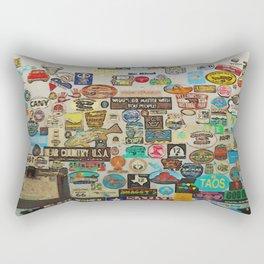 My Cool Decals - Travel Stickers Rectangular Pillow