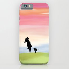 A Girl and Her Dog iPhone Case