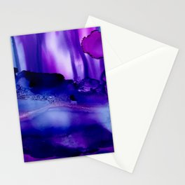 Shades of Purple Abstract Stationery Cards