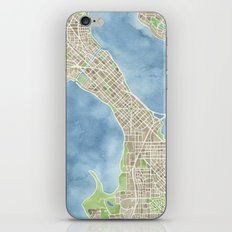 City Map Madison Wisconsin watercolor  iPhone Skin