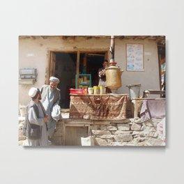 Afghan Tea Shop Metal Print