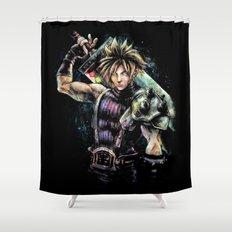Hero of the Lifestream Shower Curtain