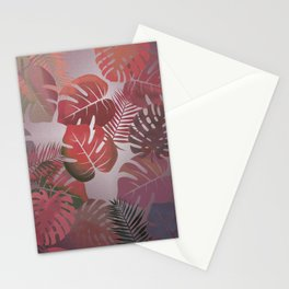Tropical Autumn Leaves Stationery Cards