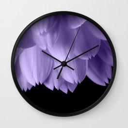 Ultra violet purple flower petals black Wall Clock