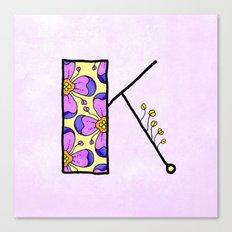 K {kay} Canvas Print