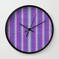 knitting Wall Clocks featuring grannys knitting  by MehrFarbeimLeben