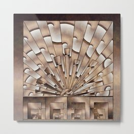 Art Deco Weathered Copper I Metal Print