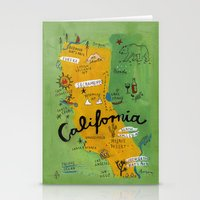 postcard Stationery Cards featuring Postcard from California by Christiane Engel