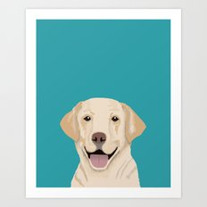 Golden Labrador Retriever modern minimal pet friendly dog person gift for labrador owner must have Art Print