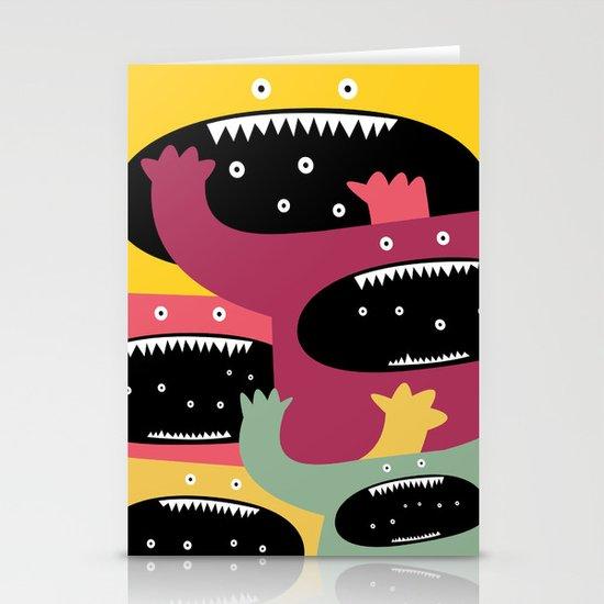 Monster medley. Stationery Cards