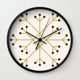 Mod Snowflake Olive Wall Clock