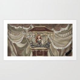 Midnight Circus: tickets Art Print