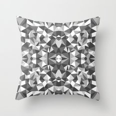 Abstract Colide Black and White Throw Pillow