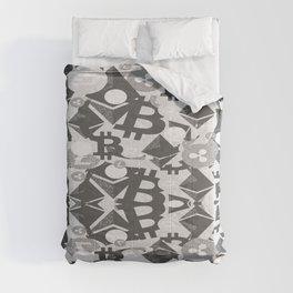 Main cryptocurrency symbols Comforters