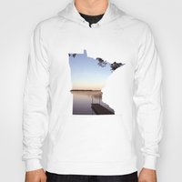 minnesota Hoodies featuring Lake Minnesota by Keaton