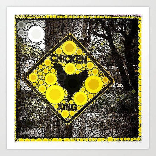 Chicken Crossing Art Print
