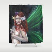 irish Shower Curtains featuring Lucky Irish by Rhiannongigglegoddess