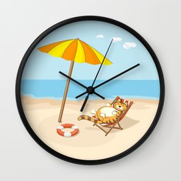 enjoy summer Wall Clock