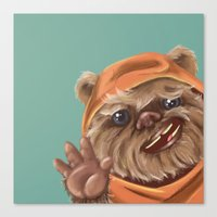 ewok Canvas Prints featuring Ewok by electricorn