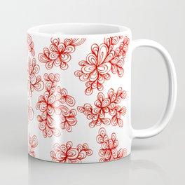 Corn Poppy Red Florals Coffee Mug